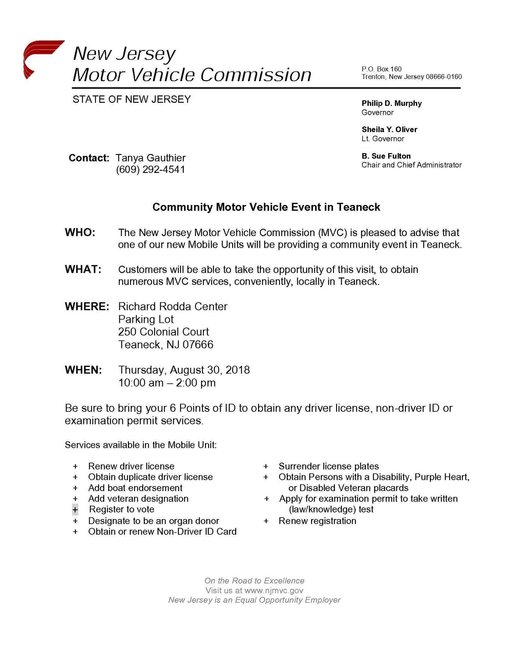 New Jersey Motor Vehicle Registration Renewal Harmonious Driving